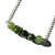 Nephrite Jade Sterling Necklace Natural Russian Jade Natural Stone Bar Necklace