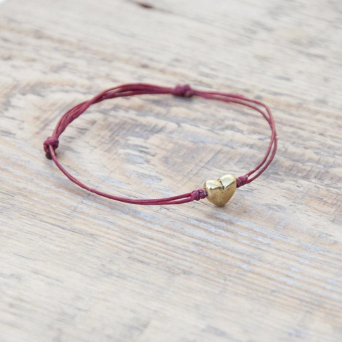 Valentine's bracelet. red bracelet  Gift for her red cord bracelet. gift under