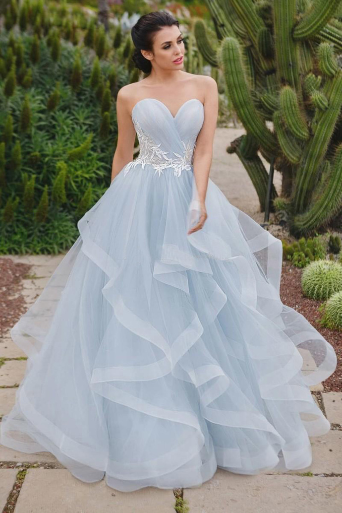 Romantic A-Line Sweetheart Prom Dresses by Miss Zhu Bridal on Zibbet