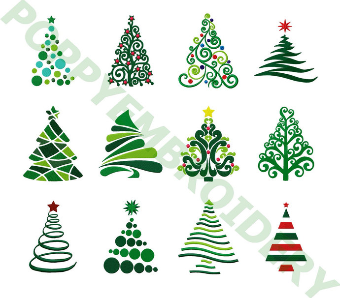 christmas tree designs for embroidery machine noel motifs pour broderie - Christmas Tree Designs