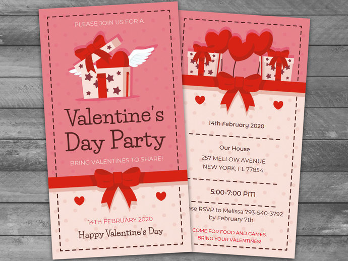 Fantastic Valentines Day Party Invitations Pictures Inspiration ...