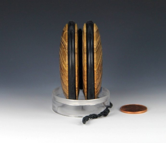 Handmade Yo-Yo, lathe turned in the USA from Indiana Black Locust Wood