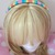 READY TO SHIP Pastel Rainbow Headband - Women's, Teens - Pastel Goth, Fairy Kei,