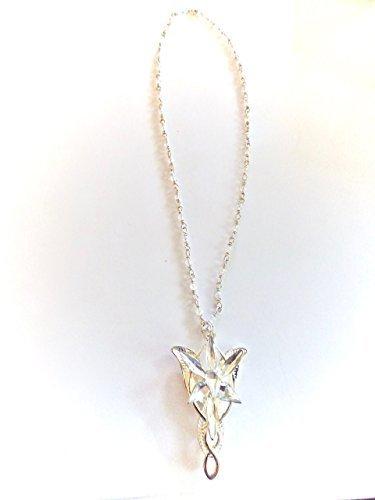 Arwen EvenStars' Elven Crystal Silver Necklace