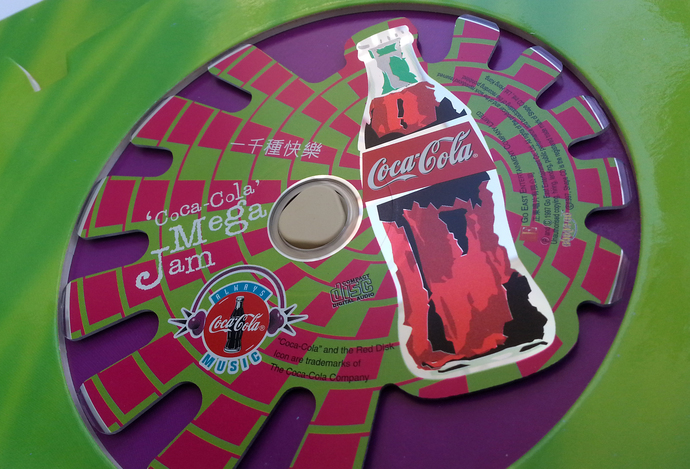 1997 Coca Cola Shaped Music CD - Coca-Cola Mega Jam - Hong Kong Exclusive - New