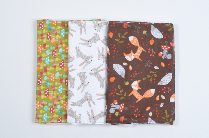 Burp Clothe Bundle//Set of 3 - In the Woods