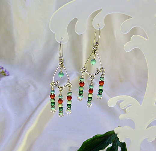Swinging Turquoise Sterling Silver Earrings