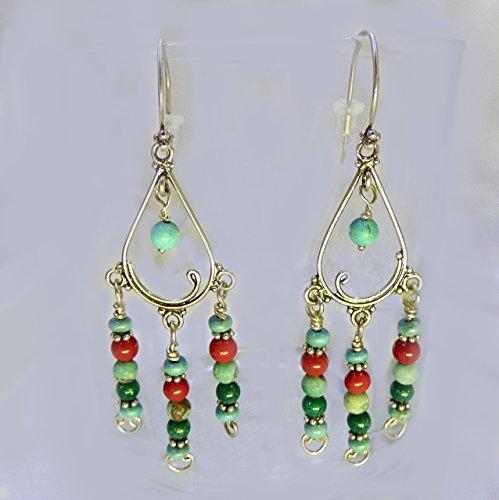 Swinging Turquoise Earrings