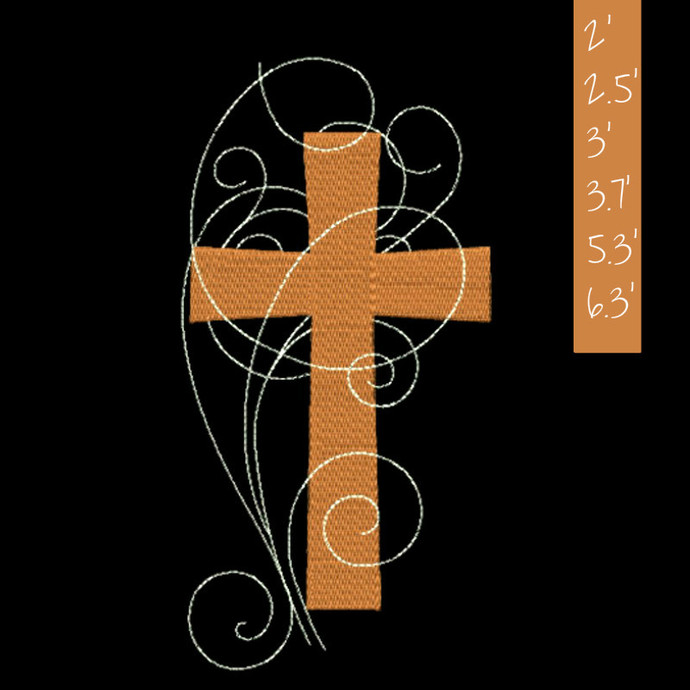 Christian cross 2 Machine Embroidery Design designs machine digital instant