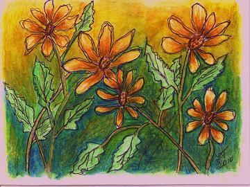 """Yellow Daisies"" Digital Image - U Print!"