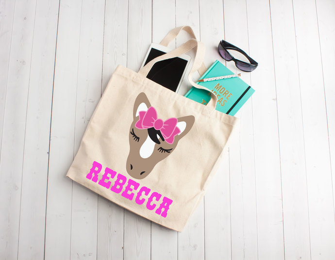 Horse tote bag, horse party, personalized horse bag, Custom Tote Bag,