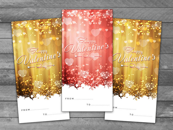 Unique Valentine's Day, Printable Cards, Valentine gift, greeting card, Gold