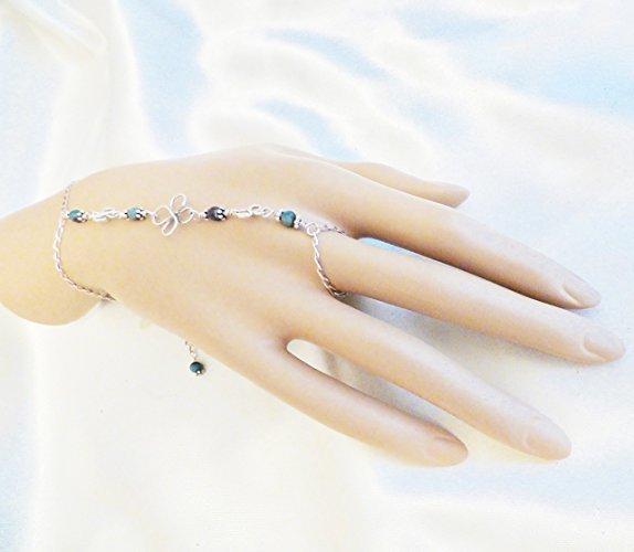 Sterling Silver Turquoise Slave Bracelet