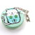 Tape Measure Mint and Blue Cats Pocket Retractable Tape Measure