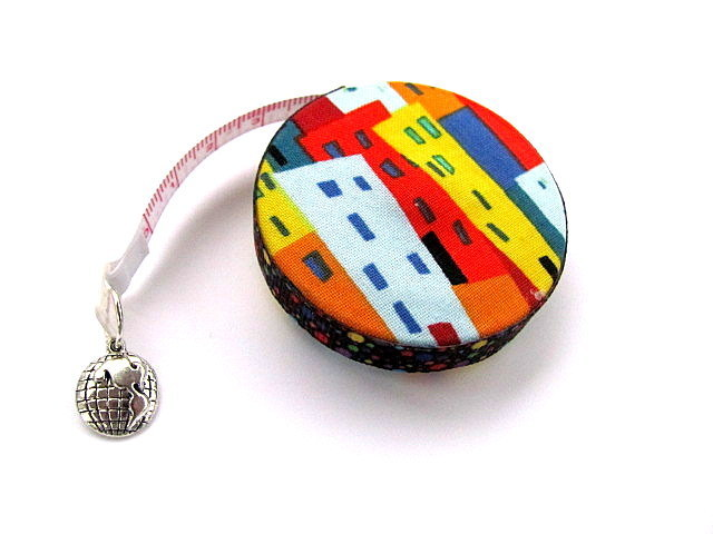 Tape Measure City Buildings Retractable Measuring Tape