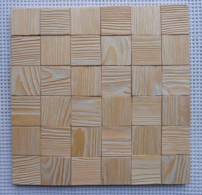 Wooden mosaic panel 3d