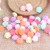10pcs Candy Color Resin Flowers - 6mm  Mix Colors stl