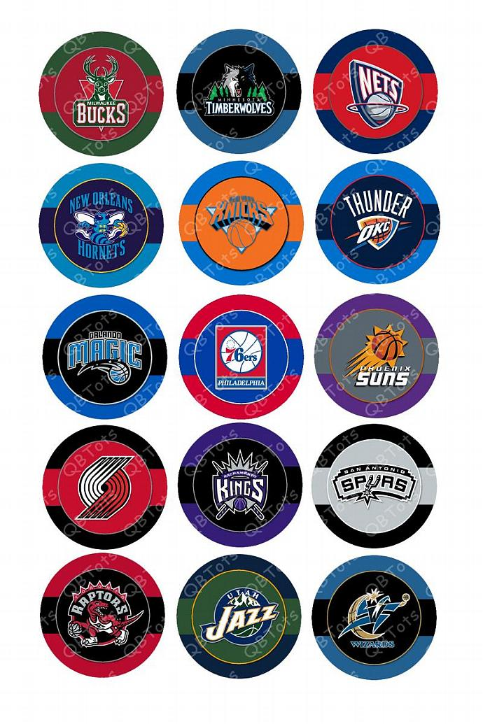 NBA Digital Image Collage 1 inch Circles