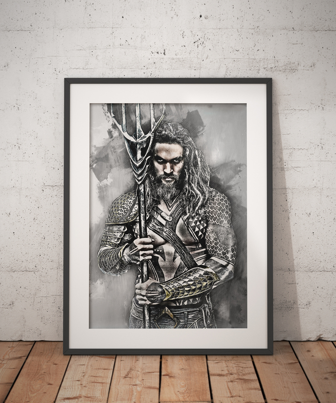 Aquaman Print Aquaman Poster wall art home decor