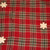 Dan Dee Plaid Snowman Tree Skirt Wooden Stars Tweed Fleece Snow Christmas 46""