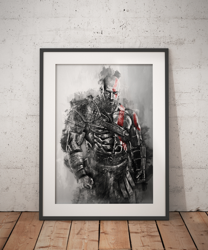 Cratos poster Cratos print God of War wall art home decor