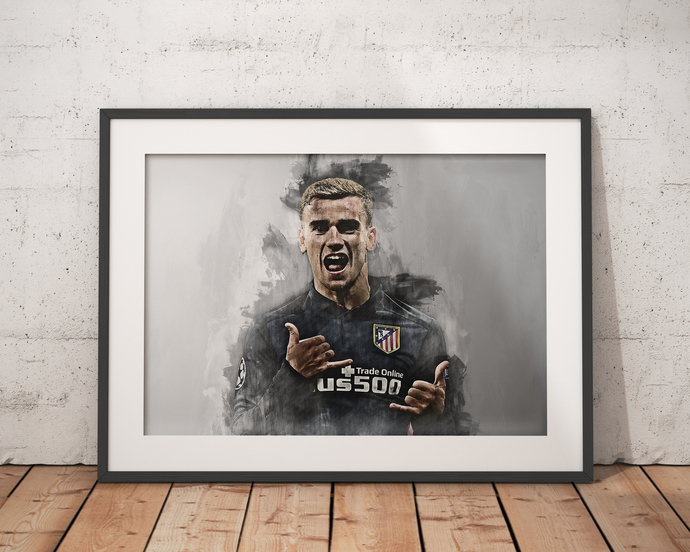 Griezmann print  Griezmann poster wall art home decor