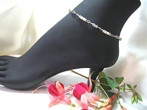 Exquisite Pearls & Crystals Ankle Bracelet