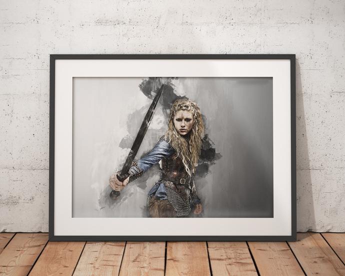 Lagertha poster Vikings wall art home decor