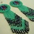 Native American Style Rosette Beaded Inlay Earrings in Seafoam Green and
