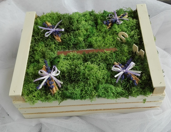 Rustic wedding card box, wedding wishes box, by Ghirlandiamo on