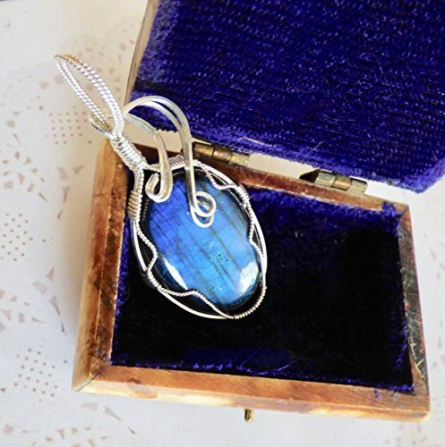 Beautiful Blue Waves of the Deep Pendant