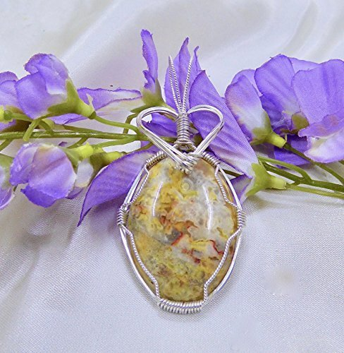 Crowned Fossil Coral in Sterling Silver Pendant
