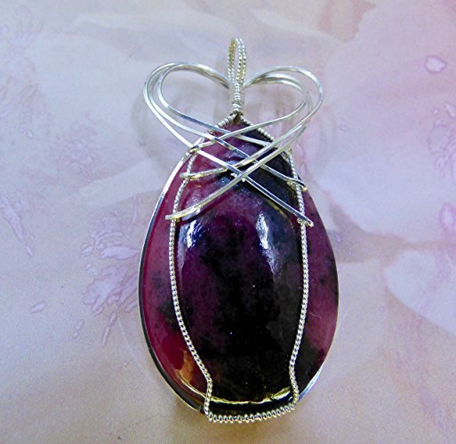 African Rhodochrosite Crowned in Silver Pendant