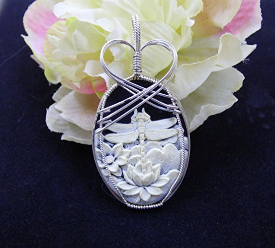 Crowned Dragonfly Beauty In Silver Pendant