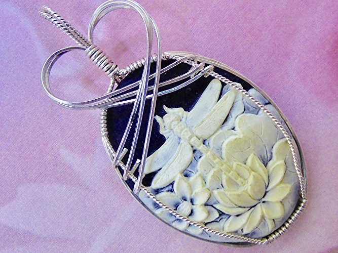 Crowned Dragonfly Beauty In Sterling Silver Pendant