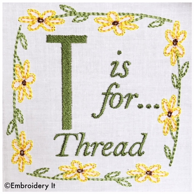 Embroidery Words Alphabet Letter T Machine Embroideryit