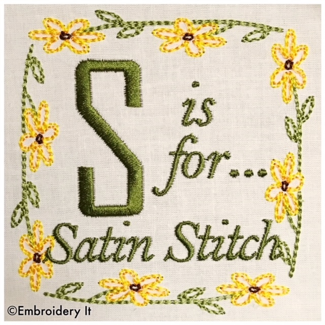 Embroidery Words Alphabet Letter S - Machine Embroidery Design in Pes, Dst, Exp,