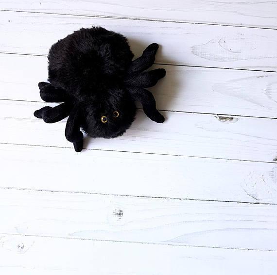 black spider toy stuffed animals soft spider plush spider cute little tarantula