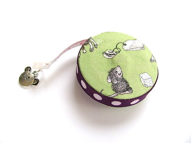 Measuring Tape with  Mice, Tea and Mugs Retractable Tape Measure