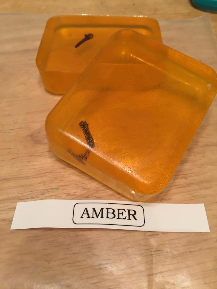 Amber Honey Glycerin Soap Bar