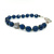 Crystal Blue Knotted Bracelet in Large
