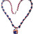 Beaded Necklace of Rhodochrosite and Lapis round beads, matching Sterling Orange