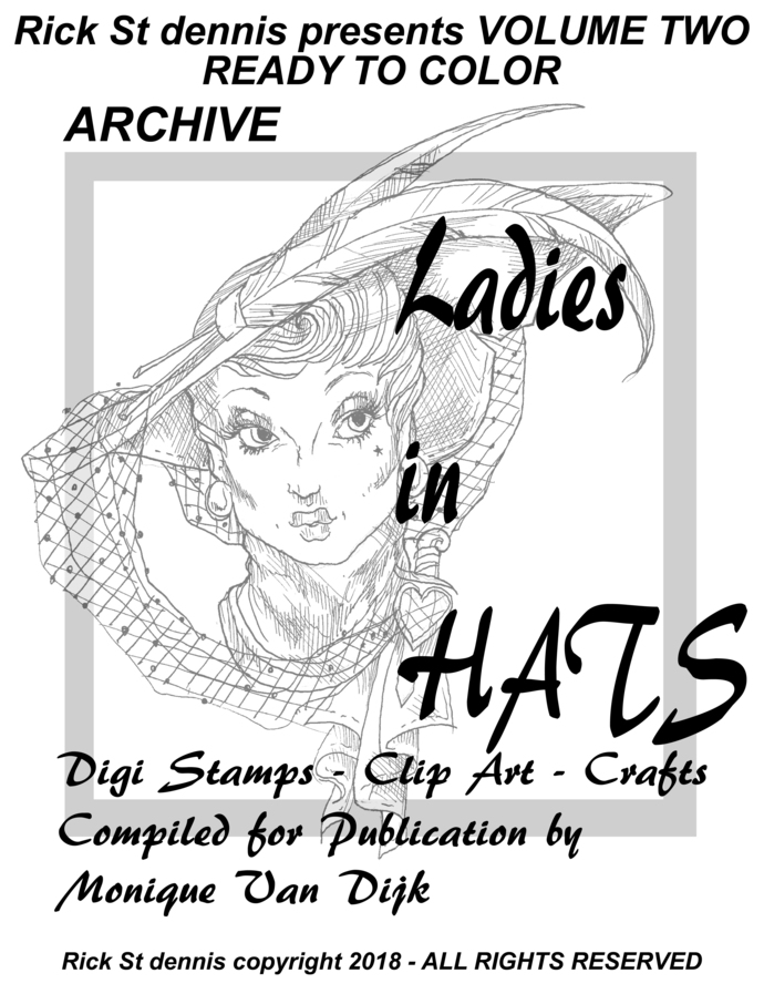 Ladies in Hats pdf downloadable coloringbook