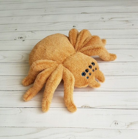 Tarantula Stuffed Animal, Soft Toy Tarantula Spider Toy Plush Spider By Zootoys On Zibbet