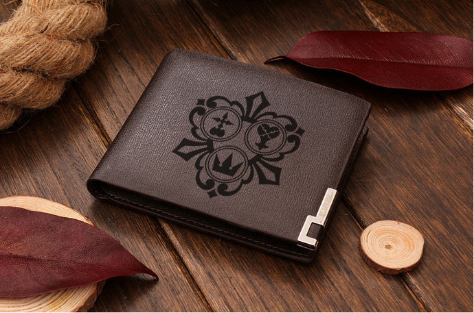 Symbols in the Kingdom Hearts Universe Version 3 Leather Wallet
