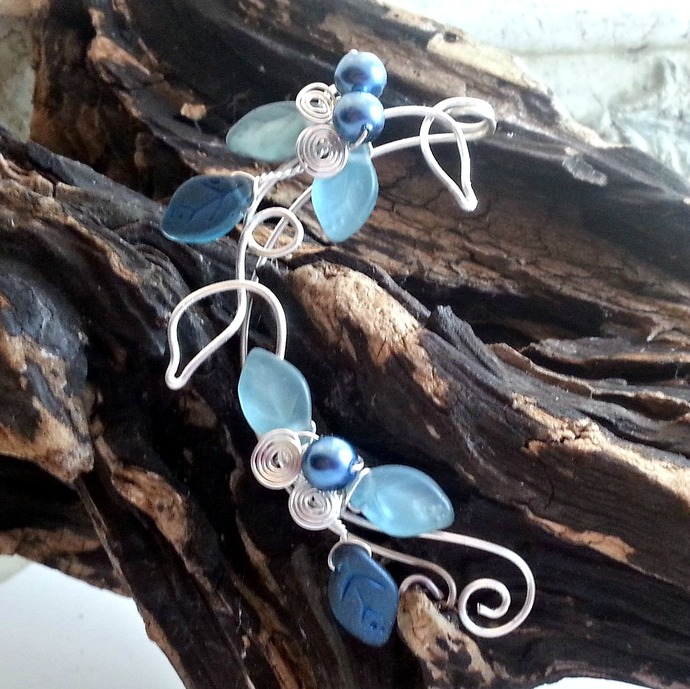 Blue Elf Ear Cuff Wrap, Ear Dreams Ear Climber
