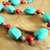 Turquoise Necklace, Turquoise and Red, Native Style Jewelry, Western Jewelry,