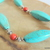 Turquoise and Red Coral Necklace, Southwestern Style, Cowgirl Jewelry, Native