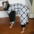 Houndstooth fleece dog pajama