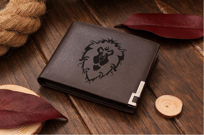 World Of Warcraft WOW Alliance Leather Wallet